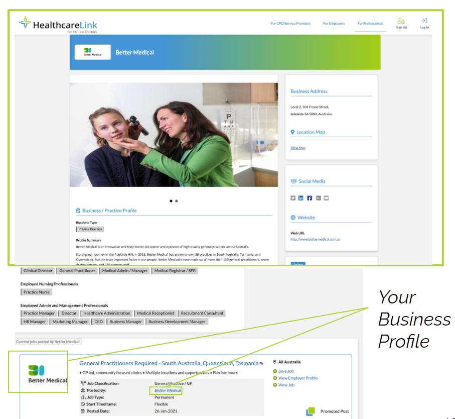 Premium Business Profile